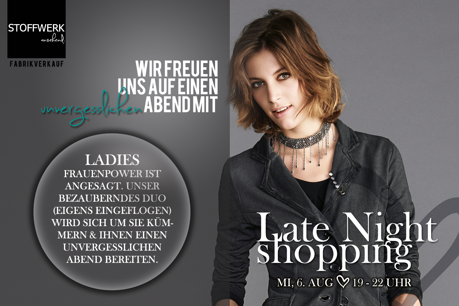 Late Night Shopping // Mi, 6. Aug // 19 – 22 Uhr